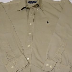 Men's casual button down long sleeve shirt